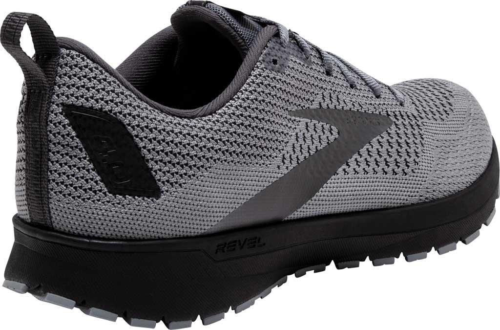 Men's Brooks Revel 4 Running Shoe, Grey/Blackened Pearl/Black, large, image 4