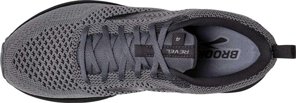 Men's Brooks Revel 4 Running Shoe, Grey/Blackened Pearl/Black, large, image 5
