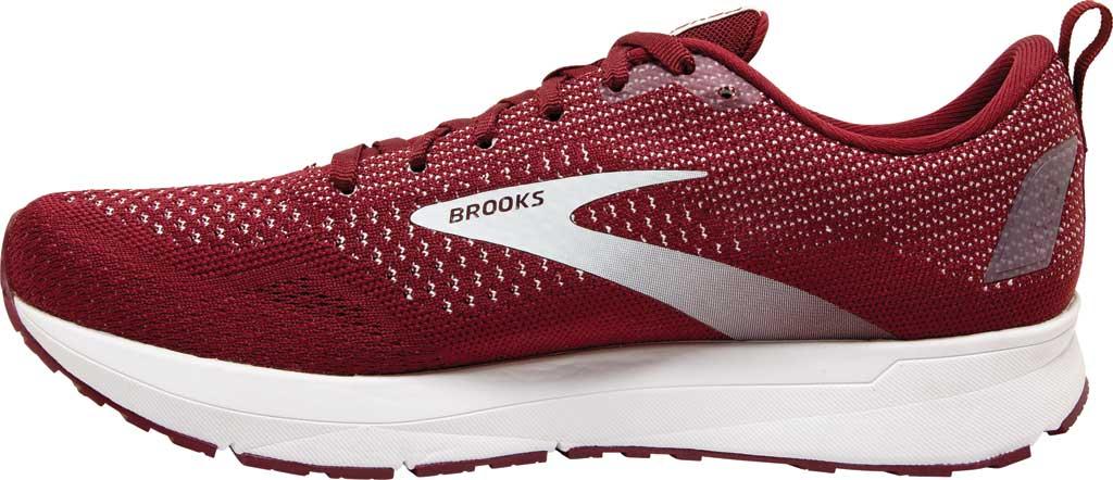Men's Brooks Revel 4 Running Shoe, Maroon/White, large, image 3
