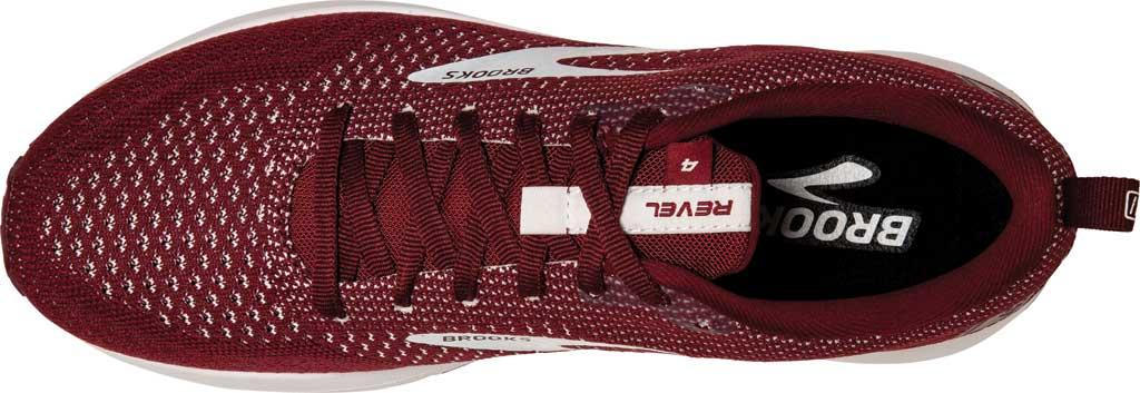 Men's Brooks Revel 4 Running Shoe, Maroon/White, large, image 5