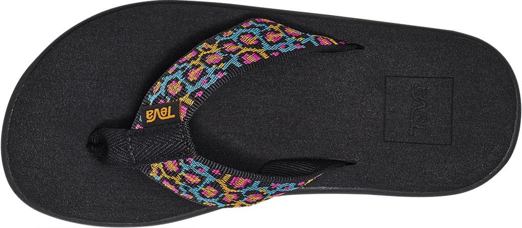 Children's Teva Voya Flip Flop - Big Kid, Dorinda Black Multi Textile, large, image 5