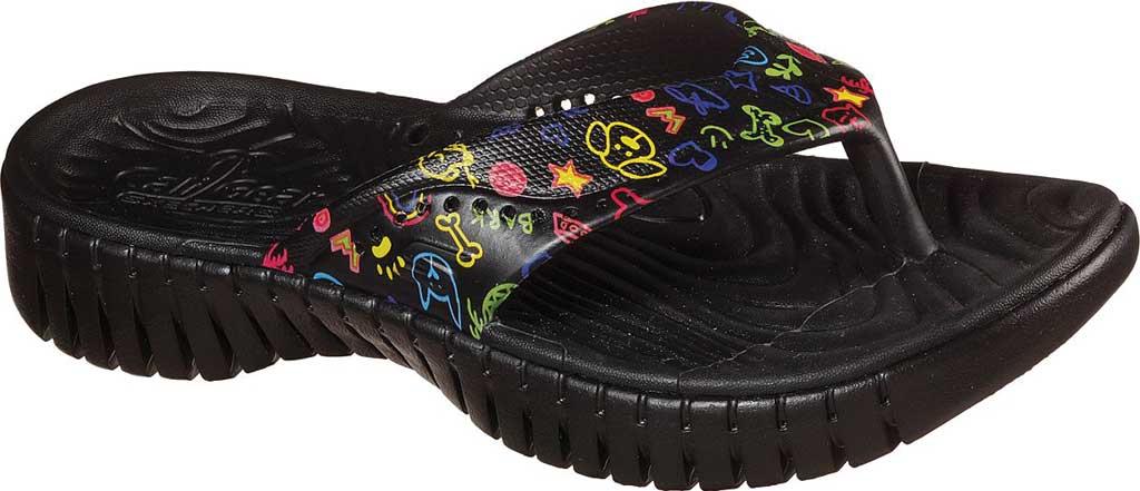 Women's Skechers Foamies GOwalk Smart Paw Some Flip Flop, Black/Multi, large, image 1