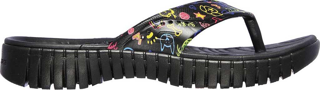Women's Skechers Foamies GOwalk Smart Paw Some Flip Flop, Black/Multi, large, image 2