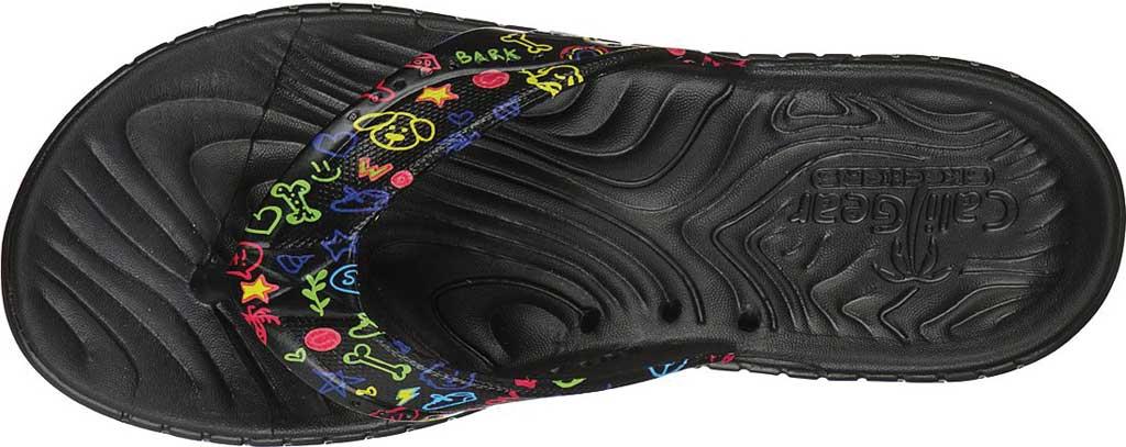 Women's Skechers Foamies GOwalk Smart Paw Some Flip Flop, Black/Multi, large, image 4
