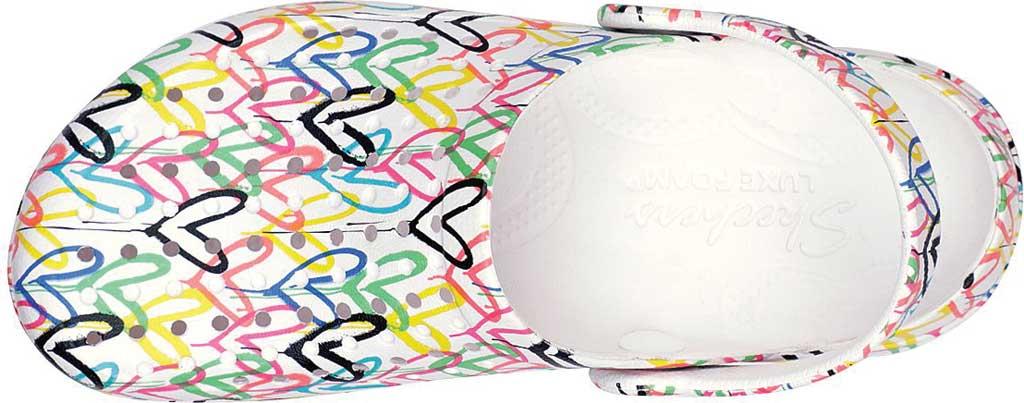 Women's Skechers x JGoldcrown: Footsteps - More Love, White/Multi, large, image 4