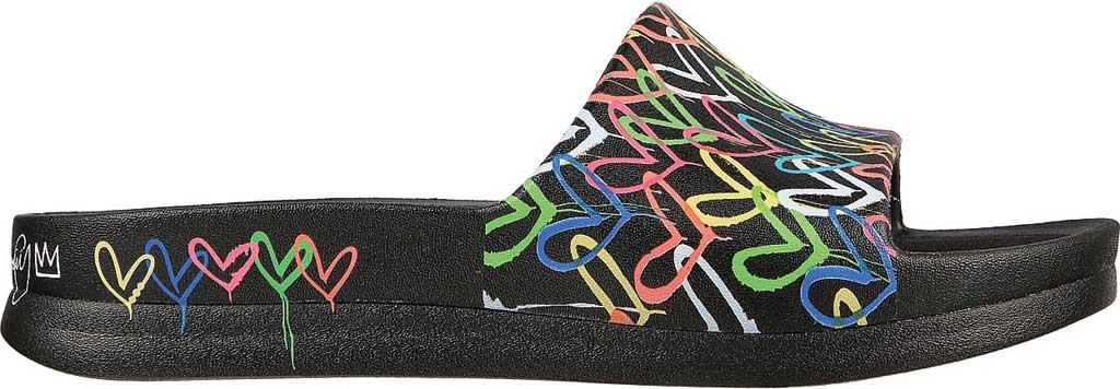 Women's Skechers x JGoldcrown: Foamies Cali Charm - Trust Love, Black/Multi, large, image 2
