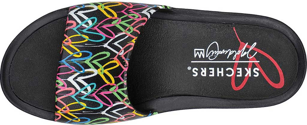 Women's Skechers x JGoldcrown: Foamies Cali Charm - Trust Love, Black/Multi, large, image 4