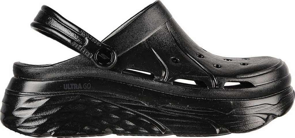 Women's Skechers Foamies Max Cushioning Show Off Clog, Black/Black, large, image 2