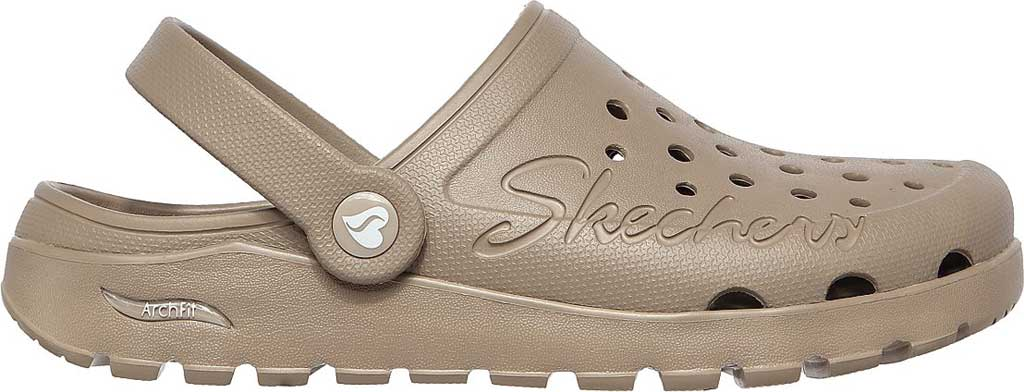 Women's Skechers Foamies Arch Fit Footsteps Pure Joy Clog, Taupe, large, image 2