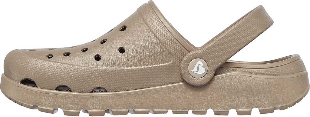 Women's Skechers Foamies Arch Fit Footsteps Pure Joy Clog, Taupe, large, image 3