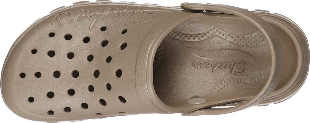 Women's Skechers Foamies Arch Fit Footsteps Pure Joy Clog, Taupe, large, image 4
