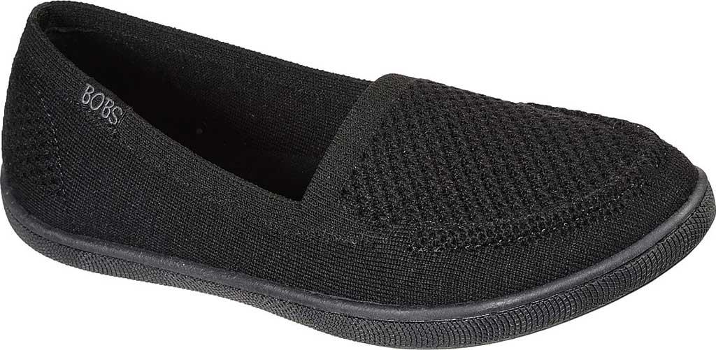 Women's Skechers BOBS B Cute Future Velvet Slip On Sneaker, Black, large, image 1