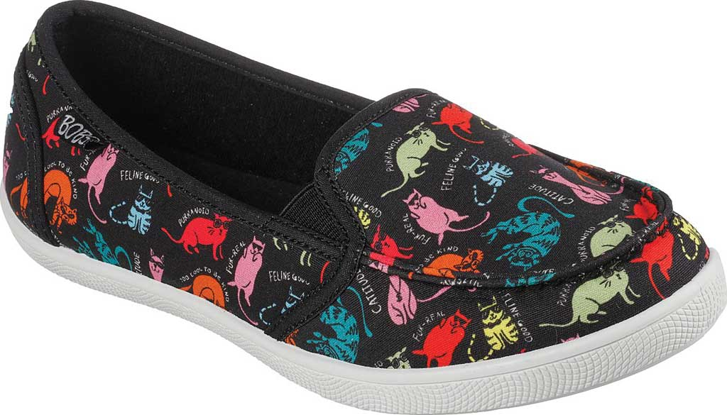 Women's Skechers BOBS B Cute Chill Gato Slip On Sneaker, Black/Multi, large, image 1