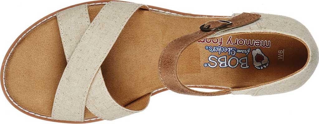 Women's Skechers BOBS Desert Kiss Lake View Stroll Ankle Strap Sandal, Natural, large, image 4