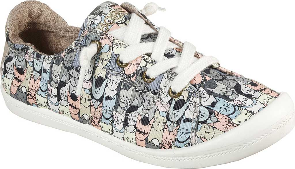 Women's Skechers BOBS Beach Bingo Mellow Cats Sneaker, Taupe/Multi, large, image 1