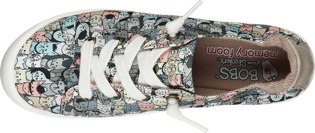 Women's Skechers BOBS Beach Bingo Mellow Cats Sneaker, Taupe/Multi, large, image 4