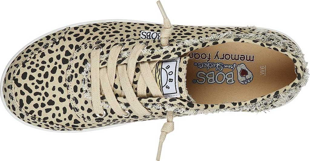 Women's Skechers BOBS B Cute Perrrsonality Vegan Slip On Sneaker, Leopard, large, image 4