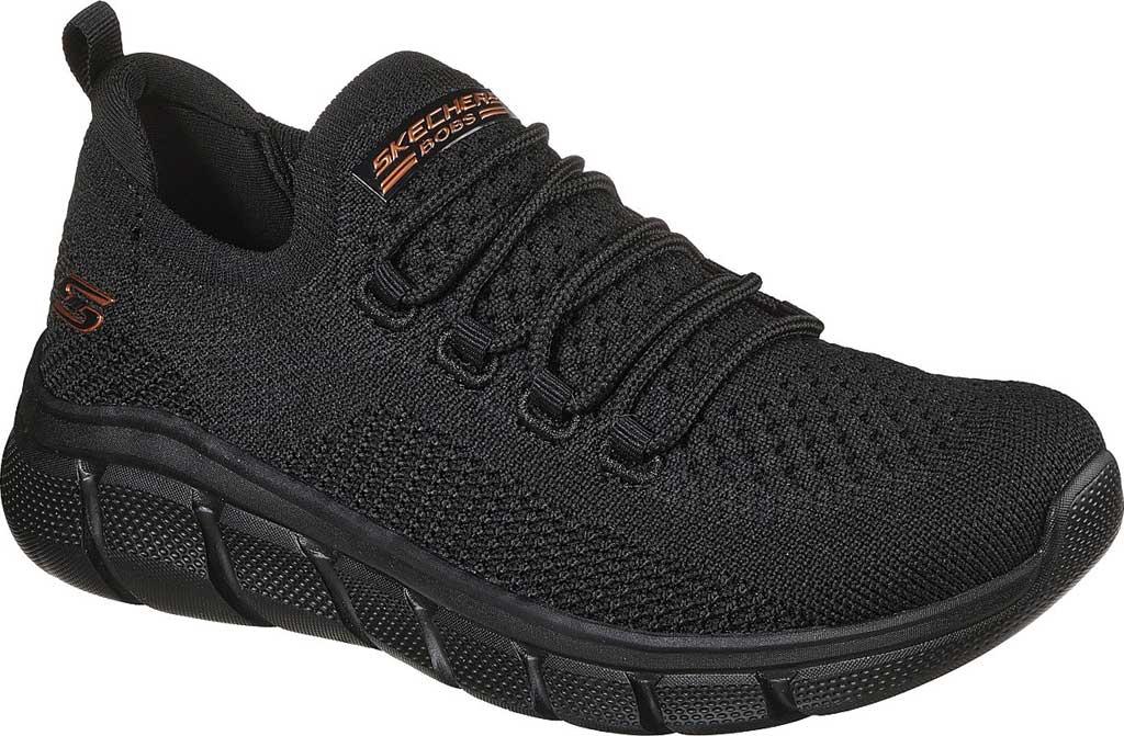 Women's Skechers BOBS Sport B Flex Color Connect Vegan Sneaker, Black/Black, large, image 1