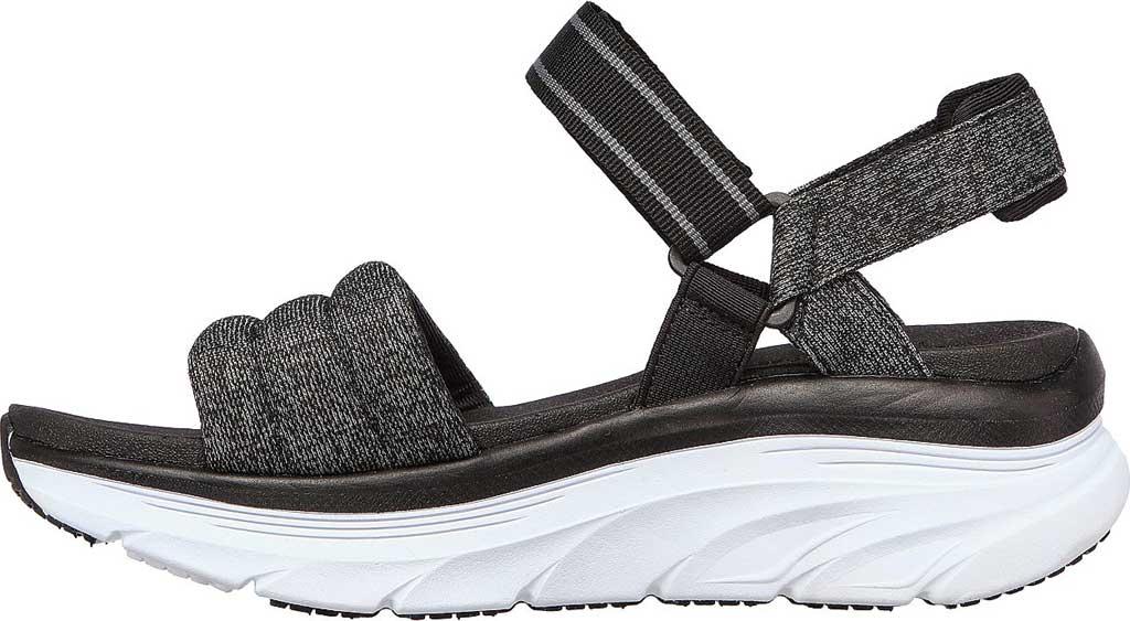 Women's Skechers Relaxed Fit D'Lux Walker Puffer Break Strappy Sandal, Black, large, image 3