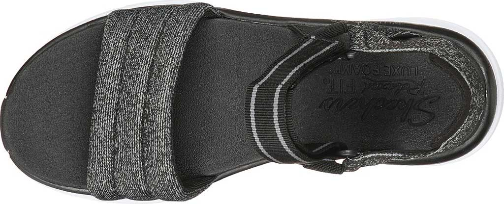 Women's Skechers Relaxed Fit D'Lux Walker Puffer Break Strappy Sandal, Black, large, image 4