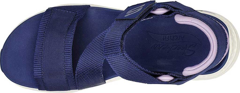Women's Skechers Arch Fit Pop Retro Vegan Wedge Strappy Sandal, Navy/Purple, large, image 4