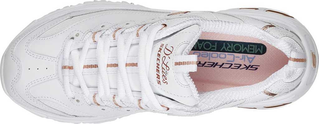Women's Skechers D'Lites Sneaker, Fresh Start/White/Rose Gold, large, image 4