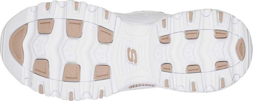 Women's Skechers D'Lites Sneaker, Fresh Start/White/Rose Gold, large, image 5