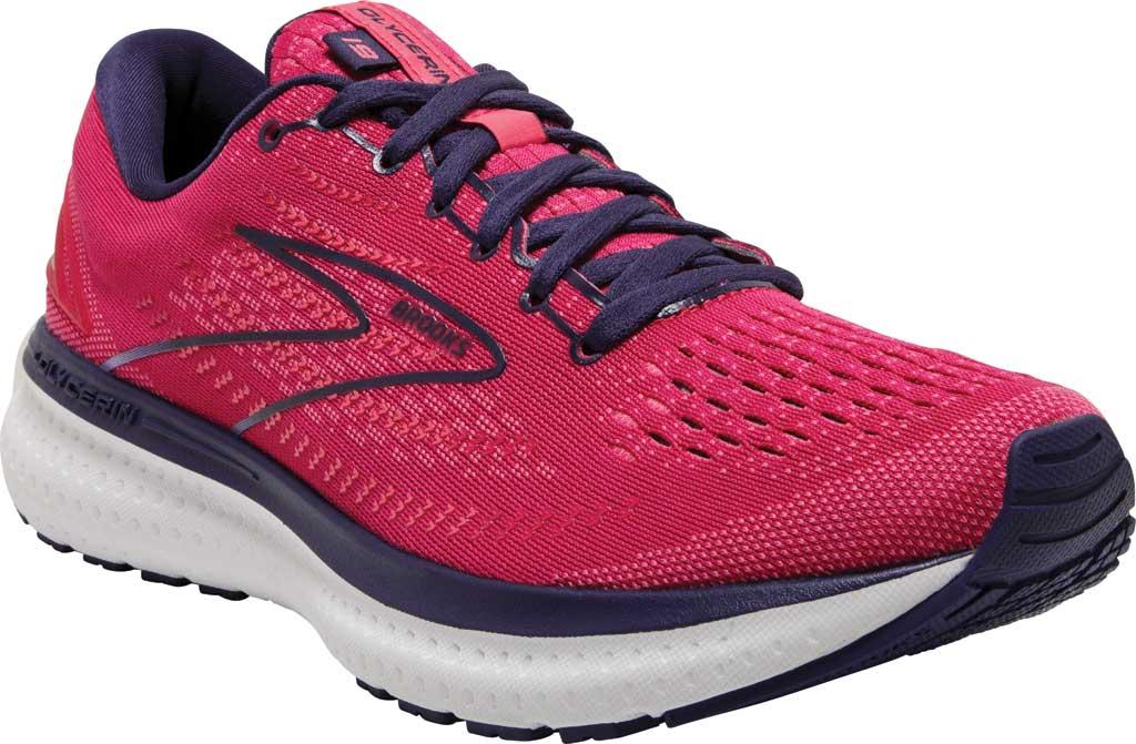 Women's Brooks Glycerin 19 Running Sneaker, Barberry/Purple/Calypso, large, image 1