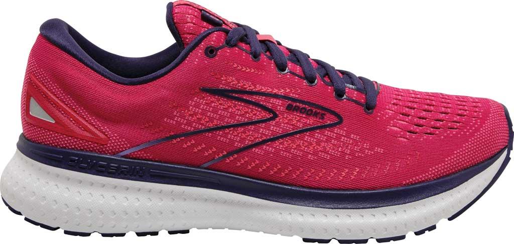 Women's Brooks Glycerin 19 Running Sneaker, Barberry/Purple/Calypso, large, image 2