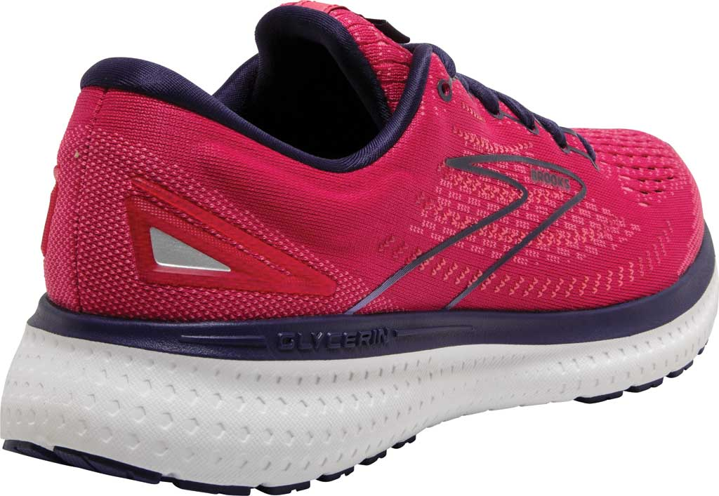 Women's Brooks Glycerin 19 Running Sneaker, Barberry/Purple/Calypso, large, image 4