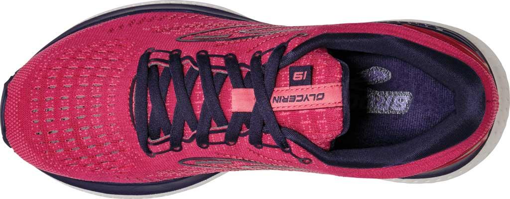 Women's Brooks Glycerin 19 Running Sneaker, Barberry/Purple/Calypso, large, image 5