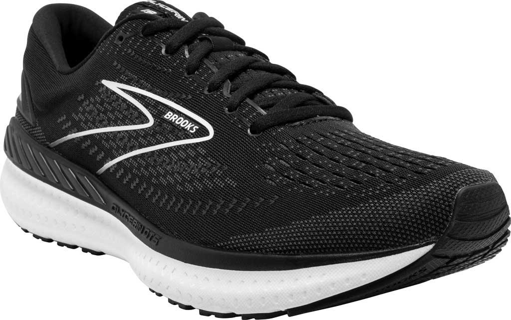 Women's Brooks Glycerin GTS 19 Running Sneaker, Black/White, large, image 1