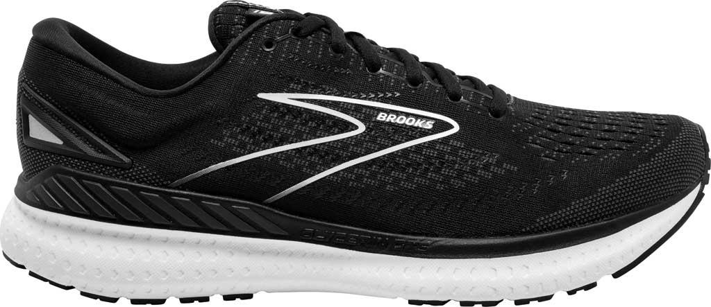 Women's Brooks Glycerin GTS 19 Running Sneaker, Black/White, large, image 2
