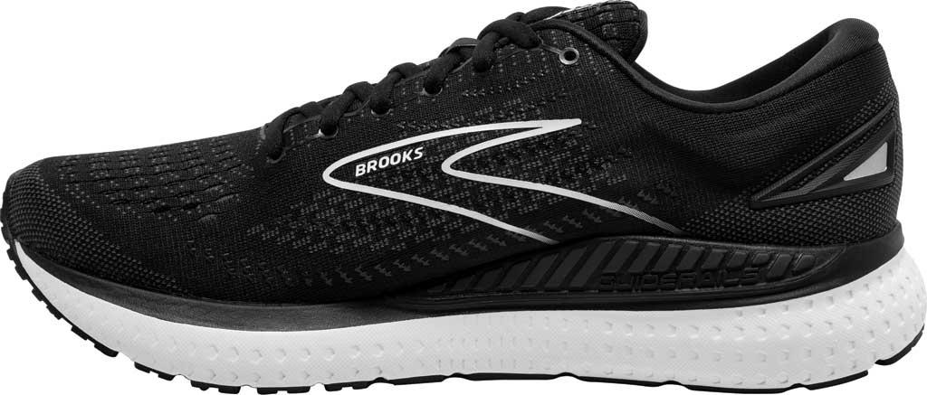 Women's Brooks Glycerin GTS 19 Running Sneaker, Black/White, large, image 3