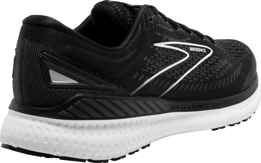 Women's Brooks Glycerin GTS 19 Running Sneaker, Black/White, large, image 4