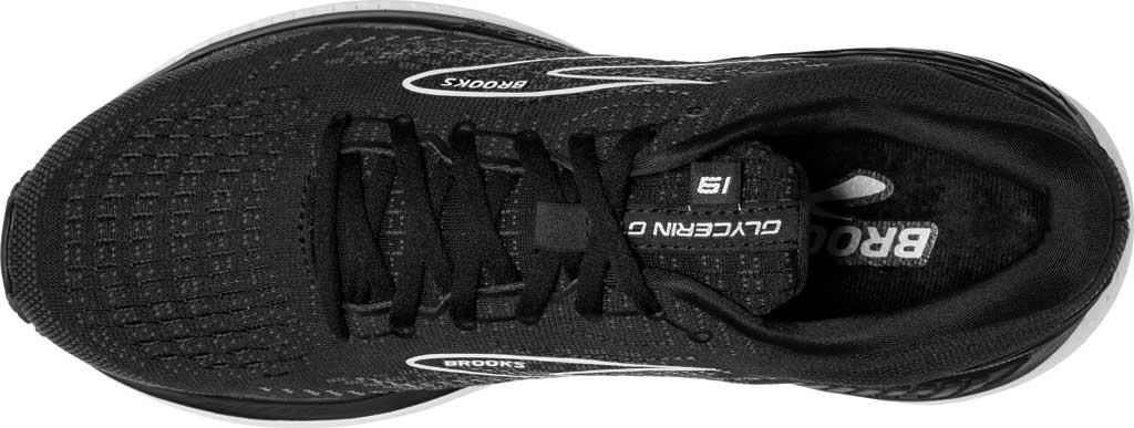 Women's Brooks Glycerin GTS 19 Running Sneaker, Black/White, large, image 5