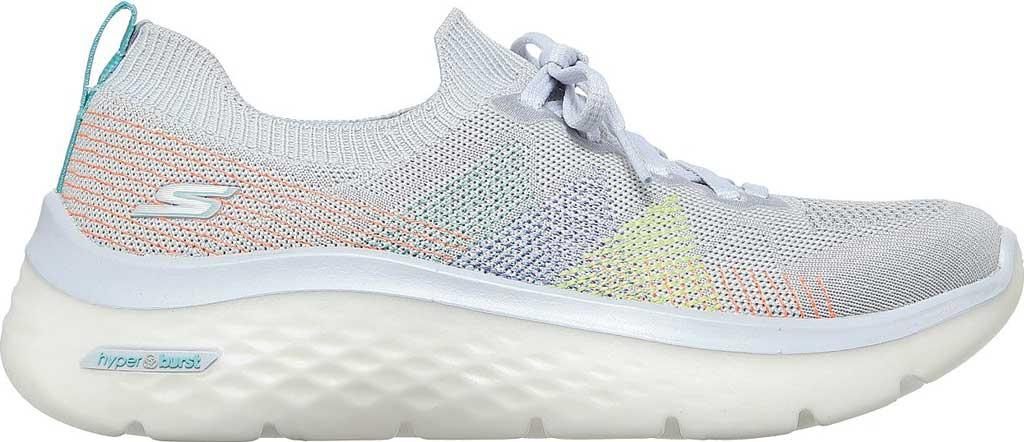 Women's Skechers GOwalk Hyper Burst Rocky Pines Vegan Sneaker, Light Gray/Multi, large, image 2