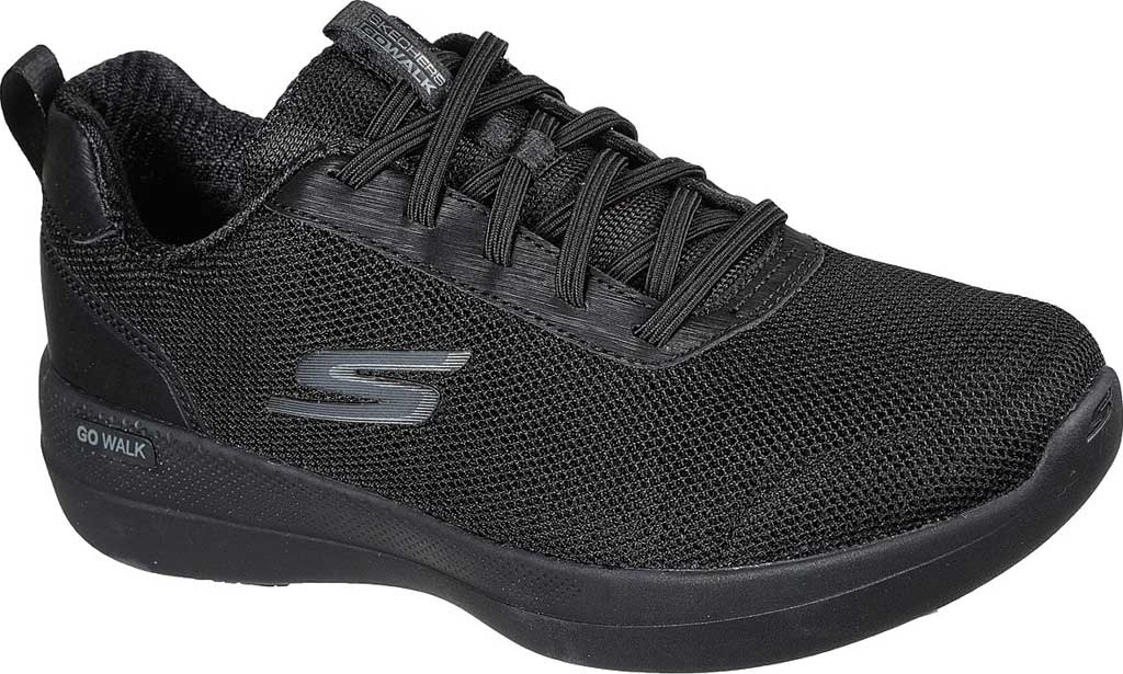 Women's Skechers GOwalk Stability Magnificent Glow Vegan Sneaker, Black/Black, large, image 1