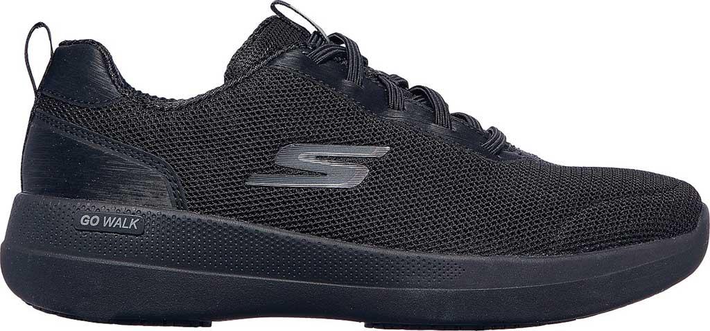 Women's Skechers GOwalk Stability Magnificent Glow Vegan Sneaker, Black/Black, large, image 2