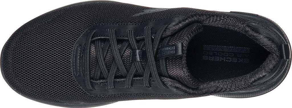 Women's Skechers GOwalk Stability Magnificent Glow Vegan Sneaker, Black/Black, large, image 4