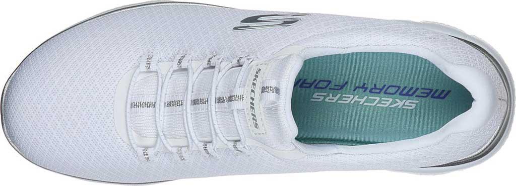 Women's Skechers Summits Sneaker, White/Silver, large, image 4