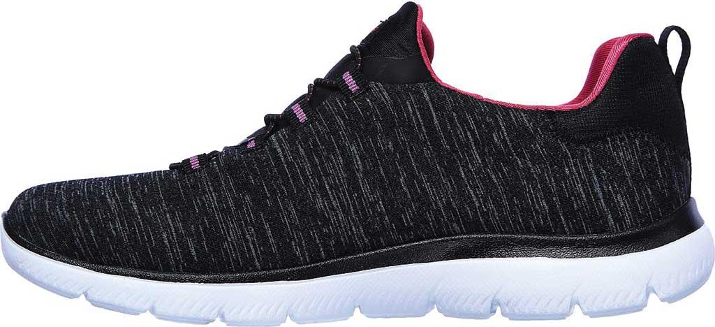 Women's Skechers Summits Quick Getaway Sneaker, Black/Pink, large, image 3