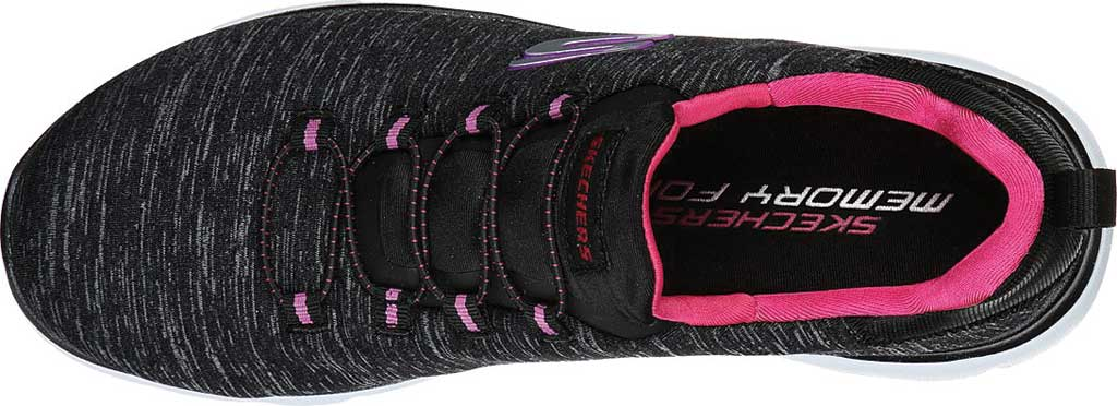 Women's Skechers Summits Quick Getaway Sneaker, Black/Pink, large, image 4