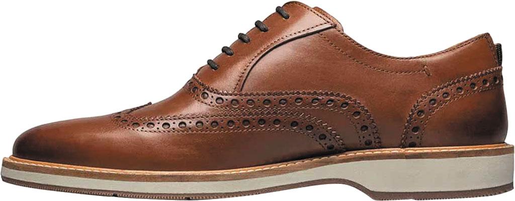 Men's Florsheim Manhattan Wingtip Oxford, Cognac Smooth Leather, large, image 3