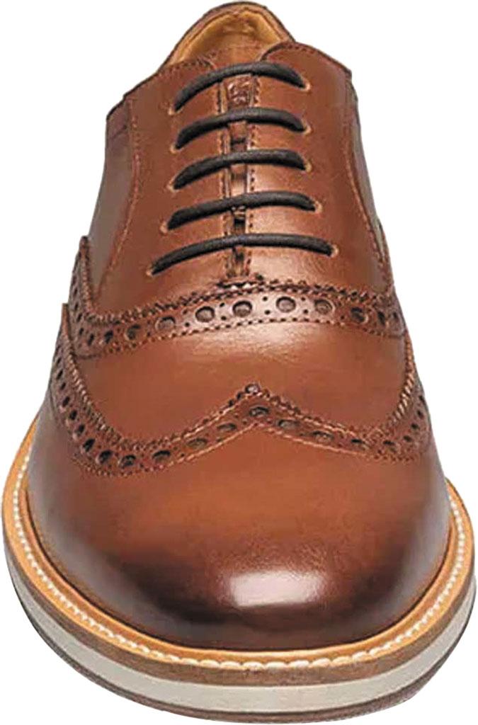 Men's Florsheim Manhattan Wingtip Oxford, Cognac Smooth Leather, large, image 4