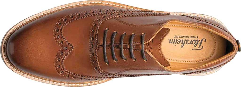 Men's Florsheim Manhattan Wingtip Oxford, Cognac Smooth Leather, large, image 6