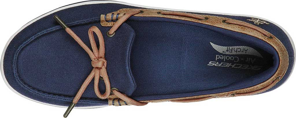 Women's Skechers Arch Fit Uplift Shoreline Sneaker, Navy, large, image 4
