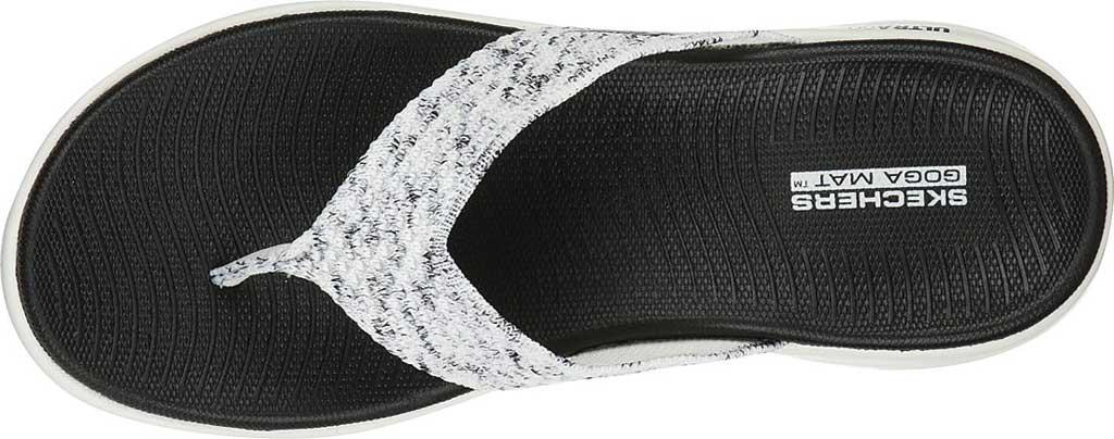 Women's Skechers On The GO Flex Accent Flip Flop, White/Black, large, image 4