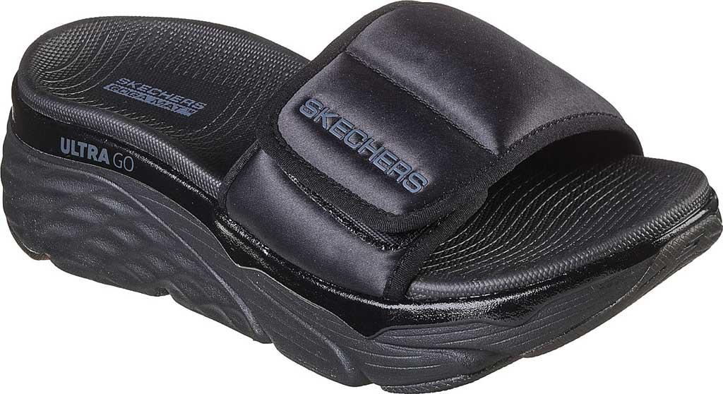 Women's Skechers Max Cushioning - Exclusive, Black/Black, large, image 1