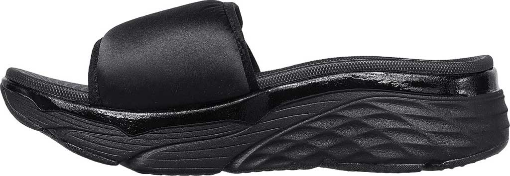 Women's Skechers Max Cushioning - Exclusive, Black/Black, large, image 3